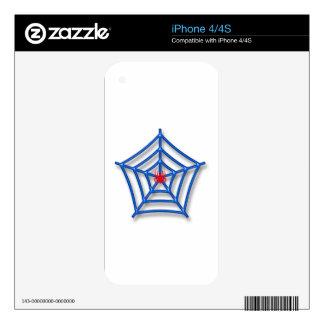 Araña roja iPhone 4S skins