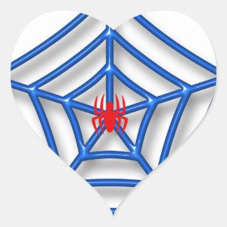 Araña roja pegatina en forma de corazón