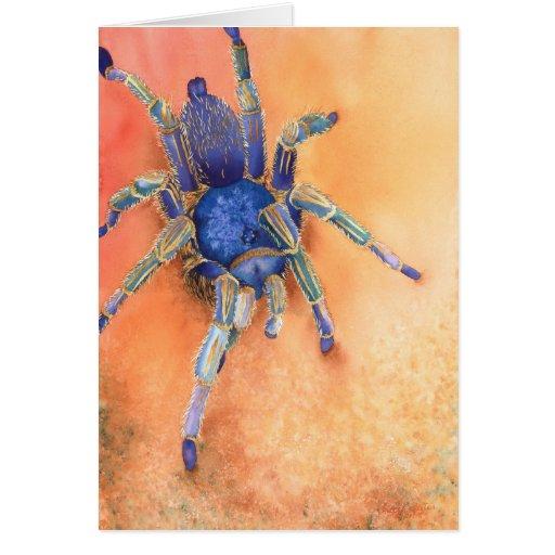 Araña - Tarantula Tarjeton