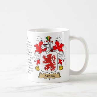 Arana, the Origin, the Meaning and the Crest Coffee Mug