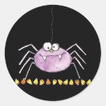 araña torpe etiqueta redonda