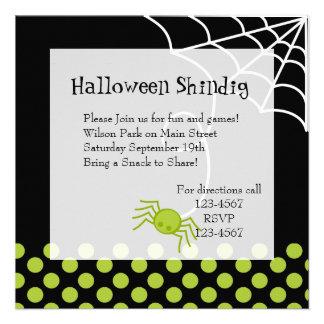 Araña verde de Lil Invitacion Personal