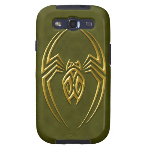 Araña verde de oro del hierro samsung galaxy SIII funda