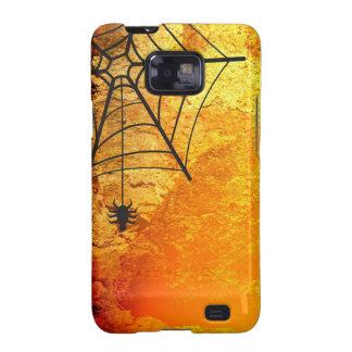 Araña y calabazas de Halloween Galaxy SII Fundas