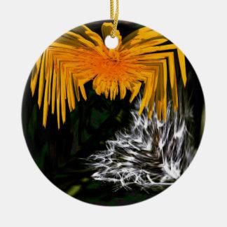Araña y el cardo adorno navideño redondo de cerámica