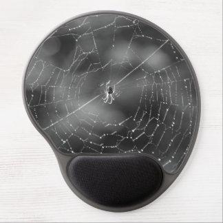 Araña y fotografía de la tela en blanco y negro alfombrilla de ratón con gel