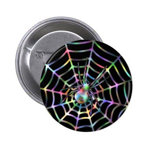 Araña y Web frescos Pin