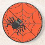 Araña y Web Halloween Posavaso Para Bebida