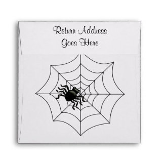 Araña y Web Halloween