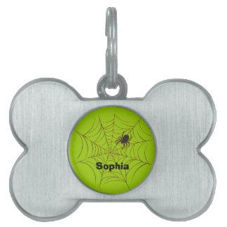 Araña y Web Placas De Mascota
