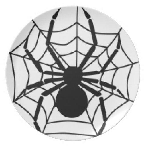 ARAÑA Y WEB PLATO