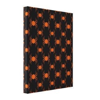 Arañas anaranjadas fantasmagóricas lona estirada galerias
