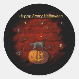 """Arañas asustadizas de Halloween "" * Pegatinas"