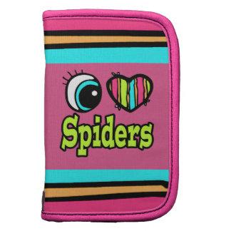 Arañas brillantes del amor del corazón I del ojo Planificadores