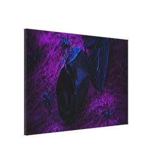 Arañas color de rosa, negras materiales negras impresión en lienzo