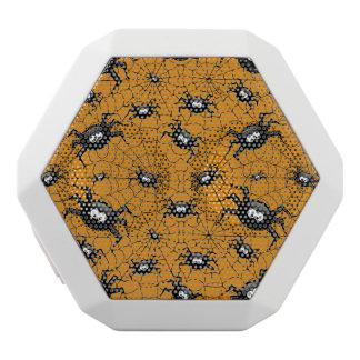 arañas de Halloween en tela de araña Altavoces Bluetooth Blancos Boombot REX
