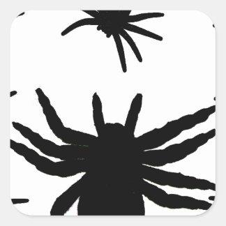 Arañas de Halloween Pegatina Cuadrada