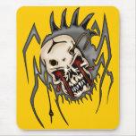 Arañas del cráneo del Cyborg Tapete De Ratones
