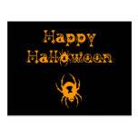 Arañas del feliz Halloween Postal