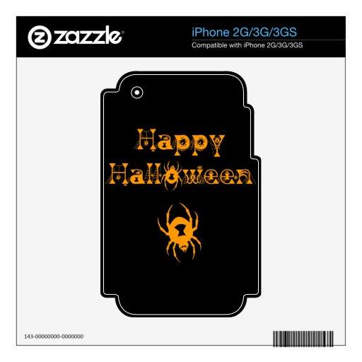 Arañas del feliz Halloween Skins Para iPhone 3G