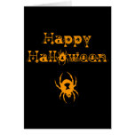 Arañas del feliz Halloween Tarjetón
