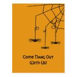 Arañas espeluznantes postales