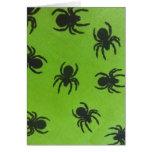 Arañas espeluznantes tarjetas