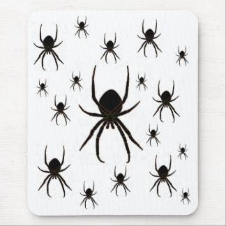 Arañas negras, arácnido alfombrillas de ratones