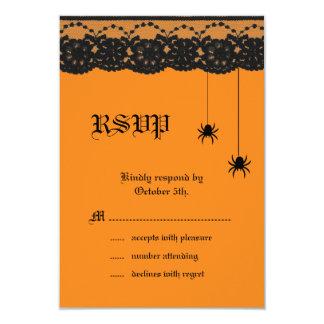Arañas y cordón anaranjados RSVP Anuncios