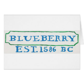 arándano blue2 tarjeta de felicitación