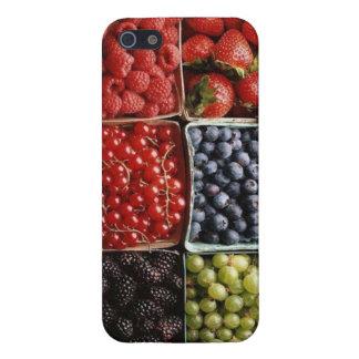 arándano de la fresa de las frambuesas de las iPhone 5 funda
