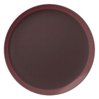 Arándano oscuro y placa Vino-Coloreada Platos Para Fiestas