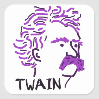 Arándano Twain Pegatina Cuadrada