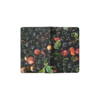 Arándano y fresa, cuaderno de bolsillo funda para libreta y libreta pequeña moleskine