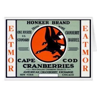 Arándanos 1900 de la marca del Honker Tarjeton