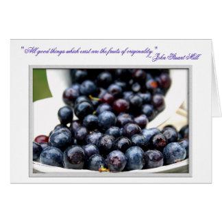 Arándanos del verano tarjeta de felicitación