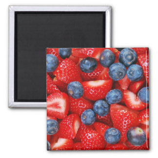 Arándanos e imán de la impresión de las fresas
