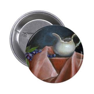 Arándanos y botón poner crema Std Pin Redondo De 2 Pulgadas