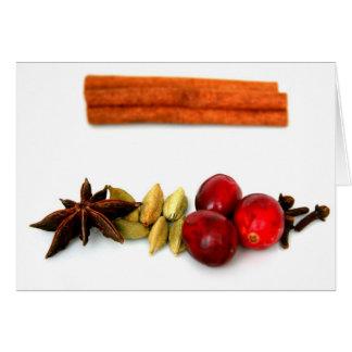 Arándanos y especias calientes tarjeton