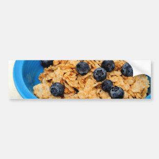 Arándanos y primer del cereal pegatina para auto