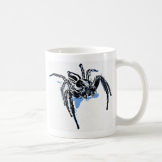 Aranha azul Blaue Spinne Blaue Spinne Araignée ble Coffee Mug