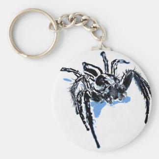 Aranha azul Blaue Spinne Blaue Spinne Araignée ble Keychain