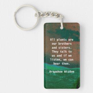 arapahoe tribe wisdom keychain
