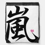 arashi kawaii heart drawstring backpack
