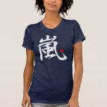 arashi kawaii heart white text tee shirt