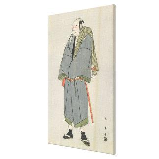 Arashi Ryu_zo as Heiemon, 1795 Canvas Print