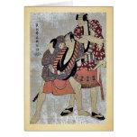 Arashi Ryuzo I de Toshusai Sharaku Tarjetas