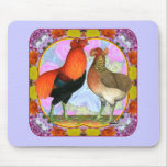 Araucana Chickens Art Nouveau Mouse Pads