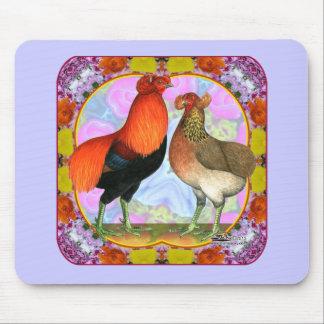 Araucana Chickens Art Nouveau Mouse Pad