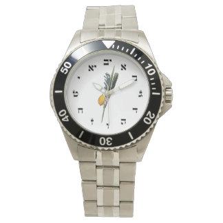 Arba Minim - Hebrew Block Lettering Wrist Watches